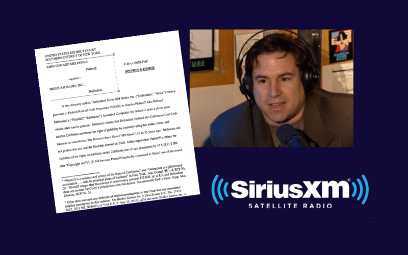 """The SDNY rejects a claim that SiriusXM violated the right of publicity by broadcasting old Howard Stern shows featuring """"Stuttering John"""" Melendez's name, voice and likeness."""